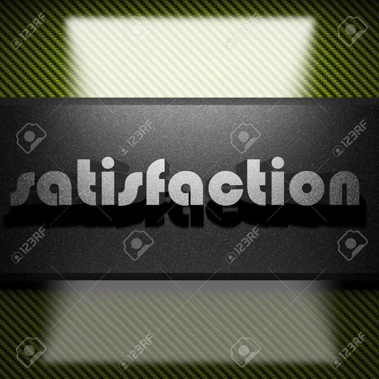 metal word on carbon Stock Photo - 23404377