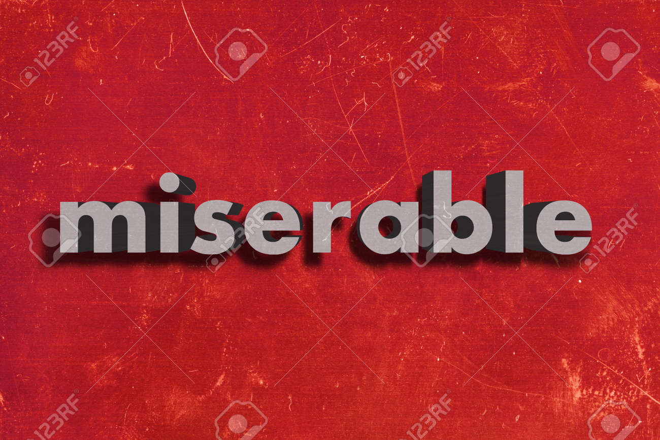 gray word on red wall Stock Photo - 28687853