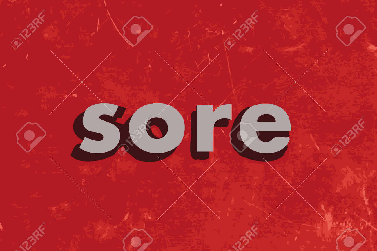 Image result for the word sore