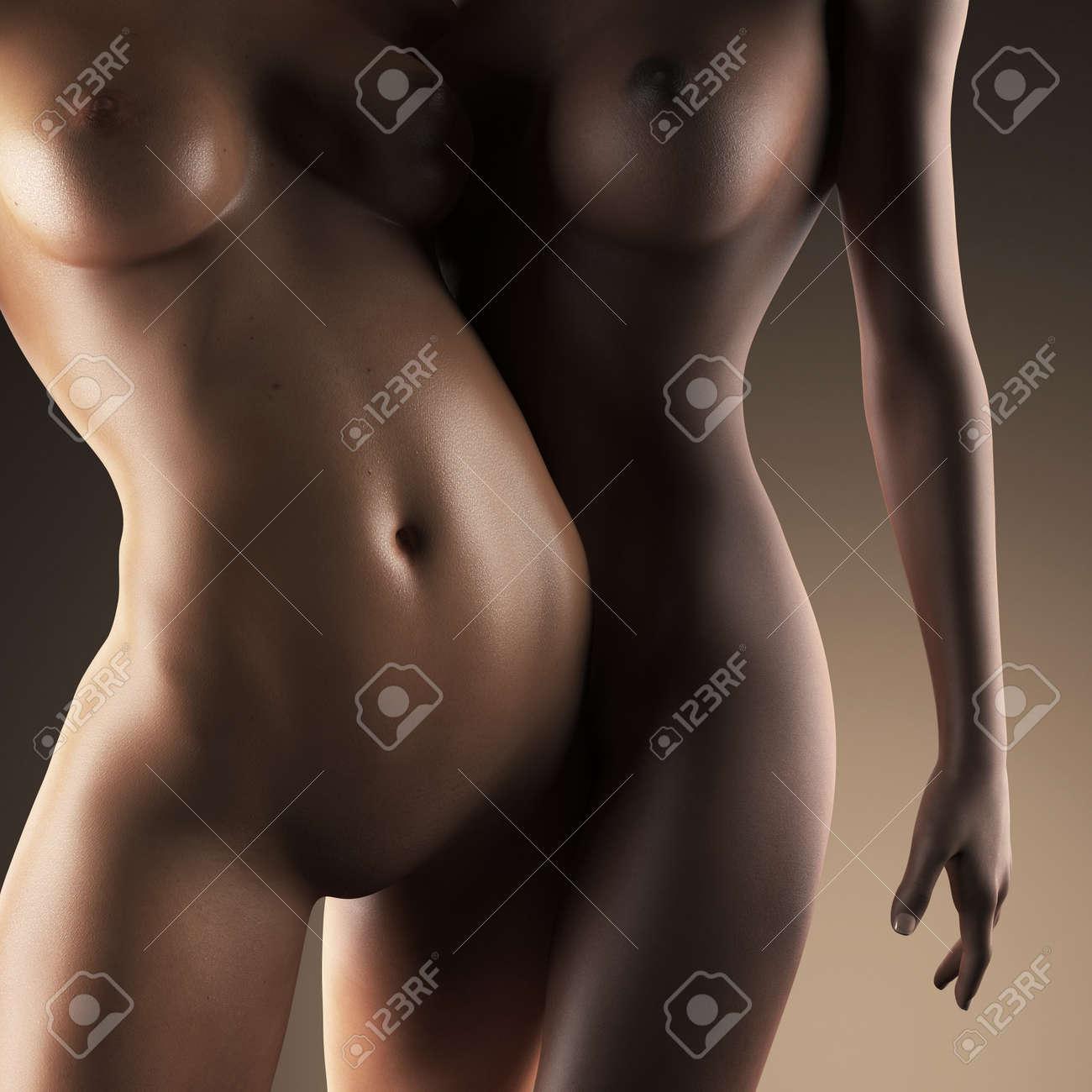 Nackte sexy lesbisch
