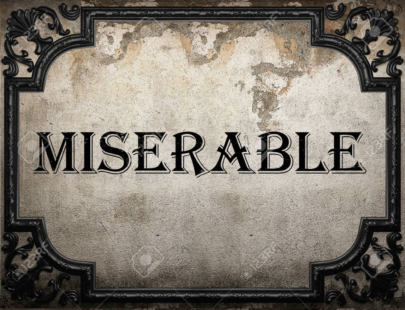 Image result for miserable word