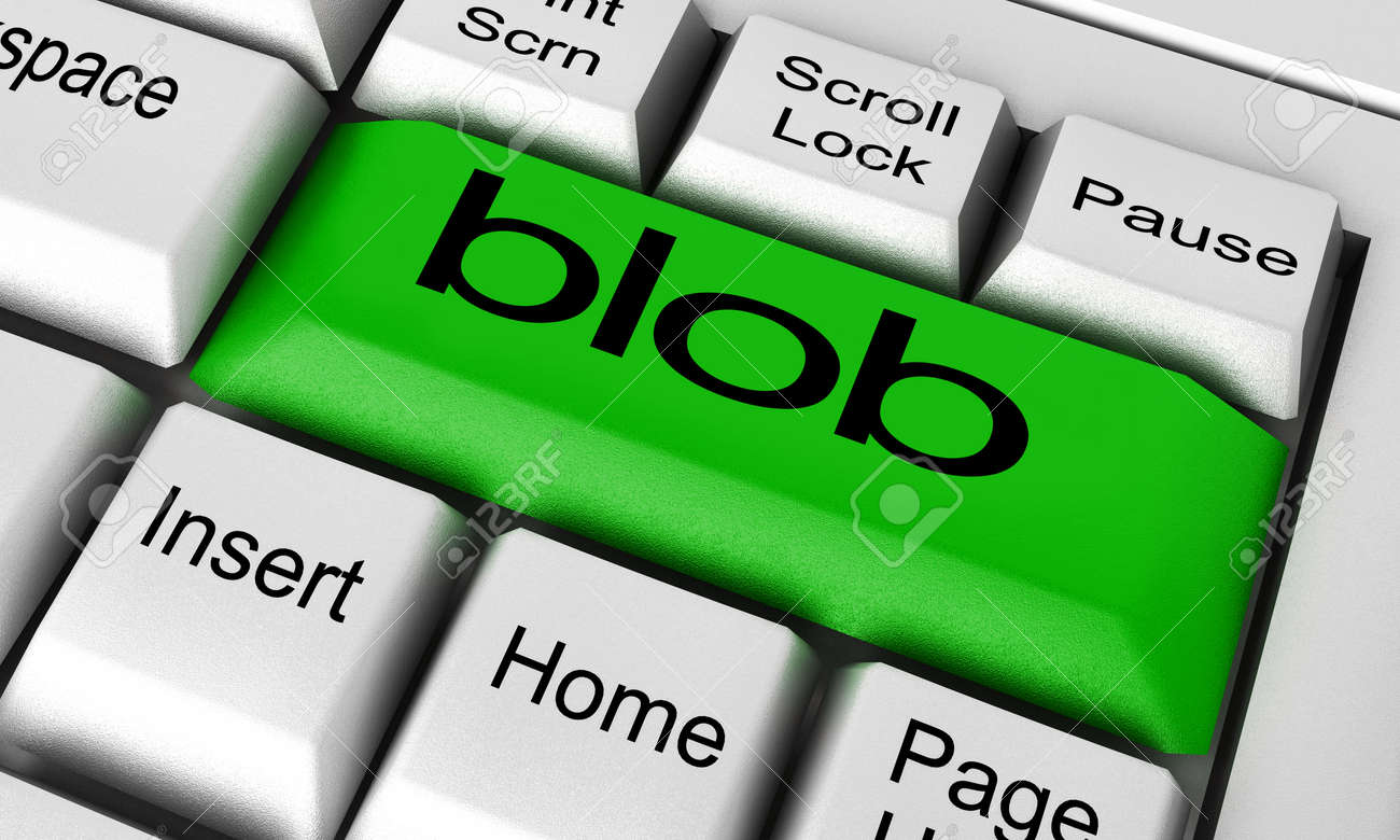 blob word on keyboard button stock photo picture and royalty free