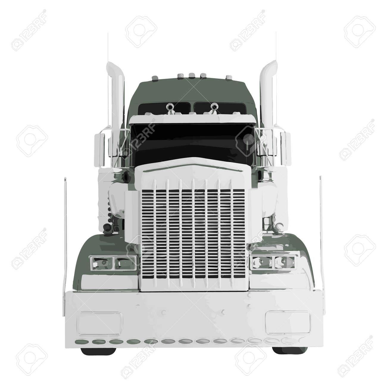 Vektor-amerikanischen Lkw-Anhänger Auf Weißem Hintergrund Lizenzfrei ...