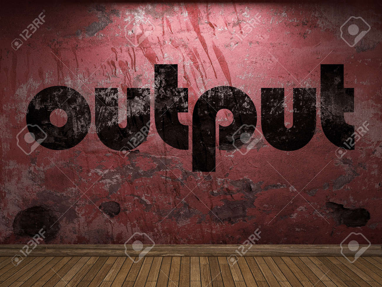 output word on red wall stock photo picture and royalty free image