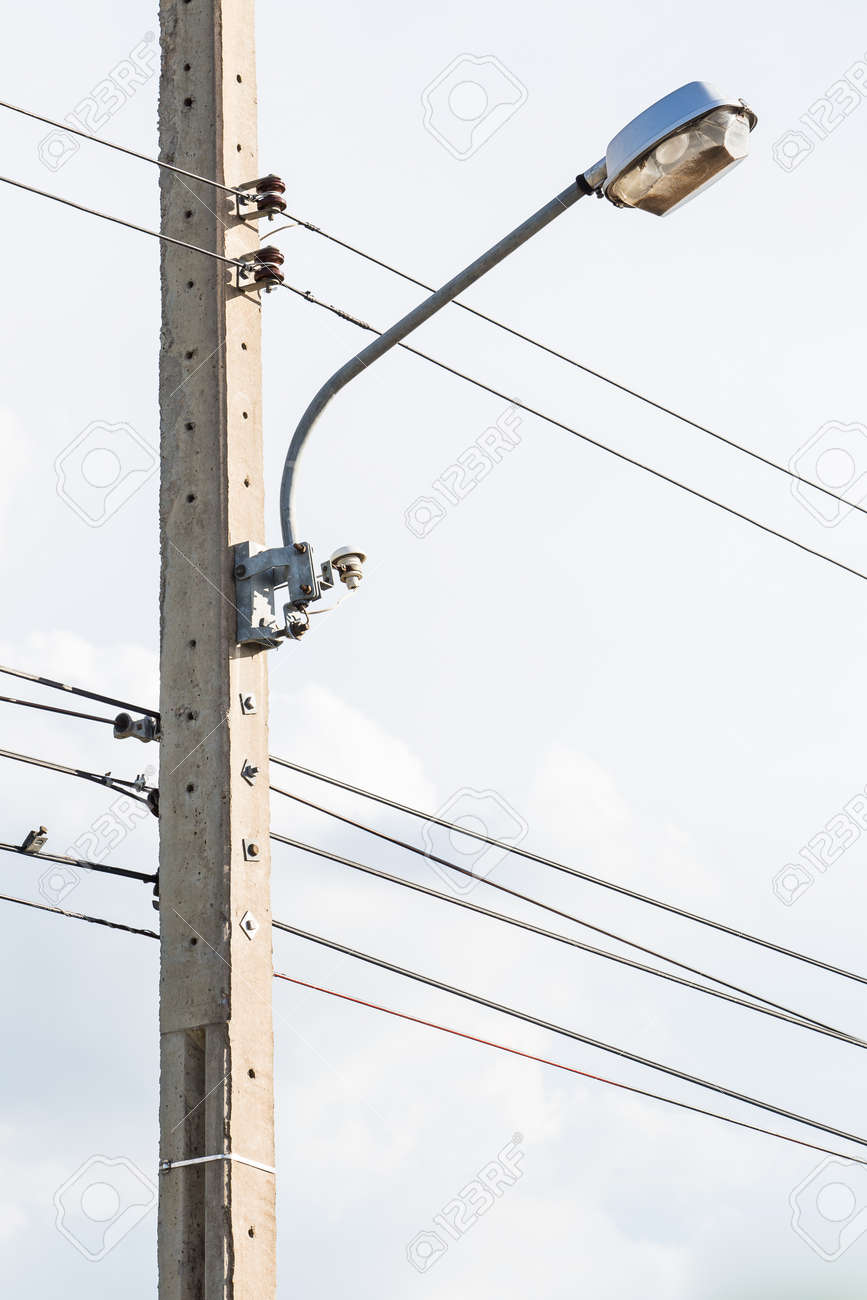 Street Lamppost On Telephone Pole Stock Photo Picture And Royalty Wiring A Lamp Post