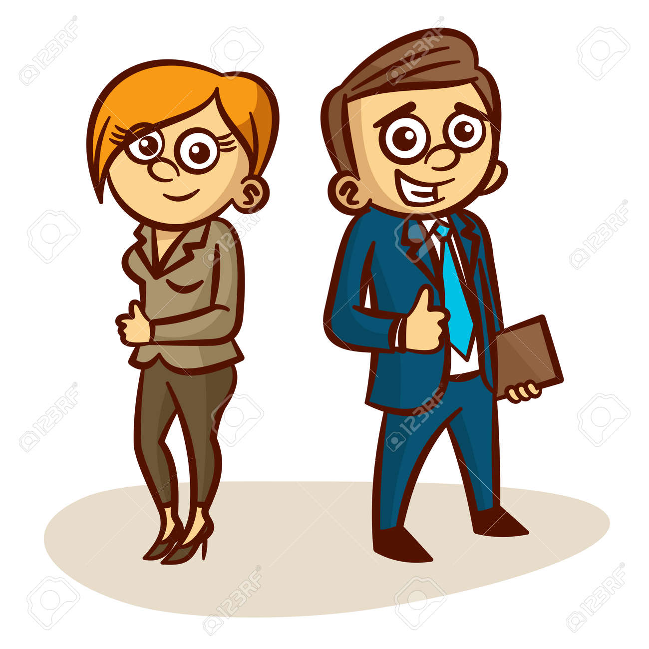 business partners happy man and a woman clipart royalty free rh 123rf com business clipart and bullseye and free business clipart and bullseye and free