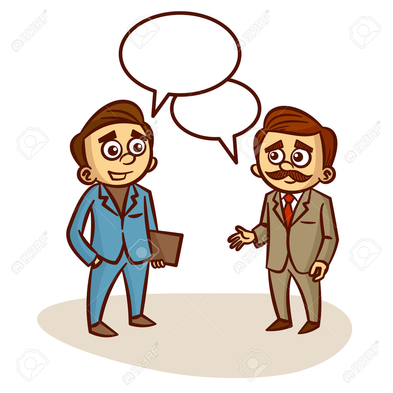 two businessmen talking about business clipart royalty free cliparts rh 123rf com