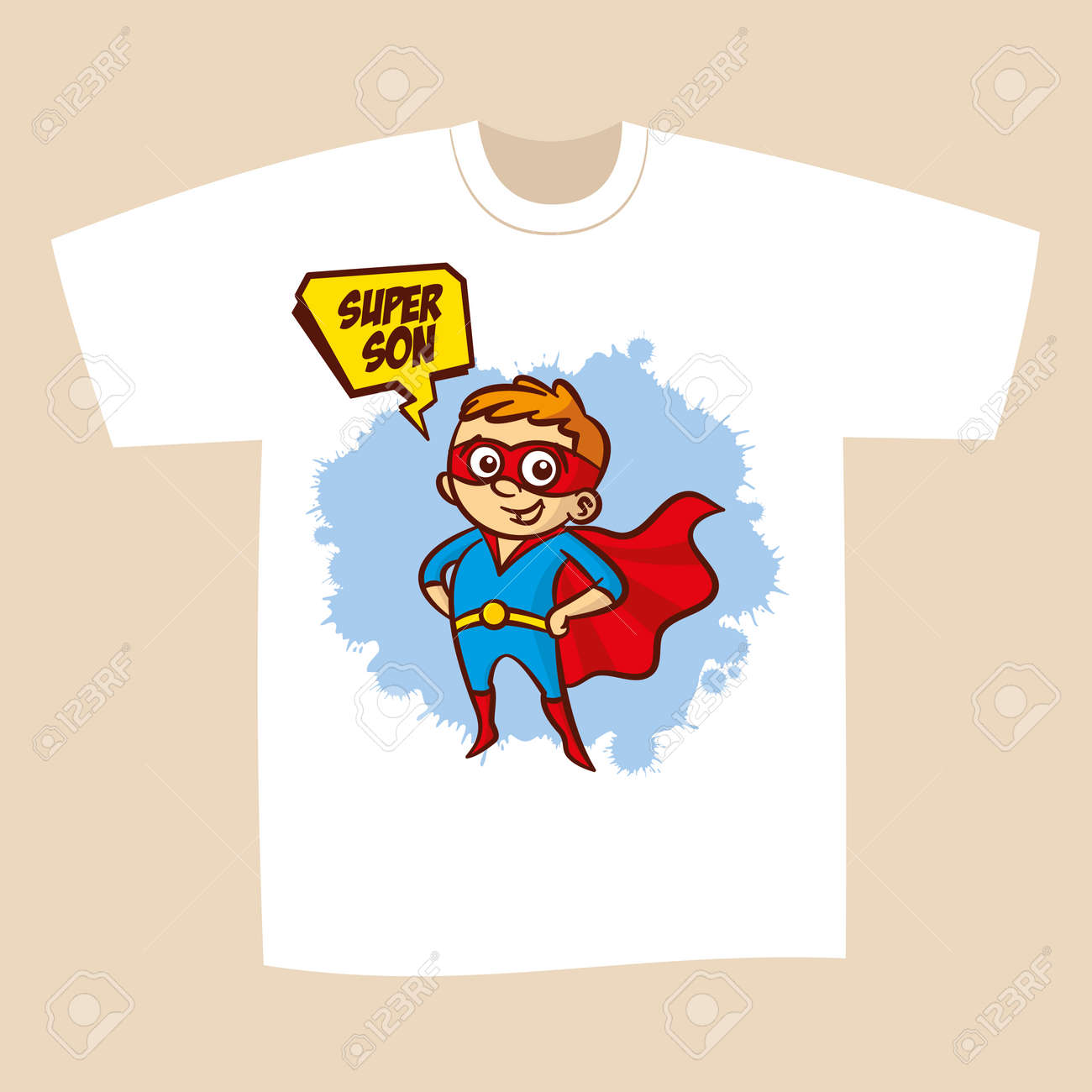 20e7ce0d T-shirt Print Design Superhero Son Sticker Vector Illustration Stock Vector  - 71808767