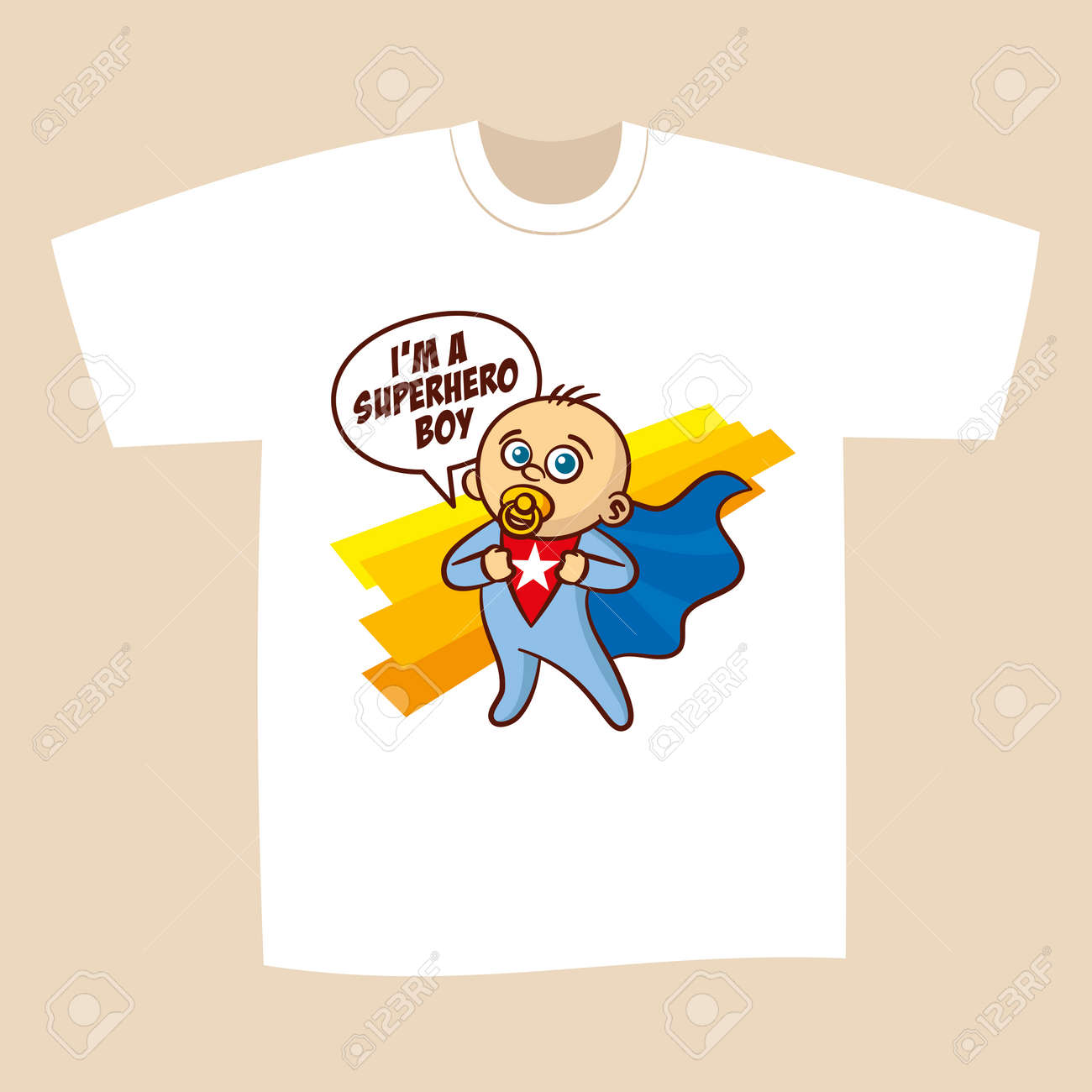 0080b756 T-shirt White Print Design Superhero Vector Illustration Stock Vector -  77776718