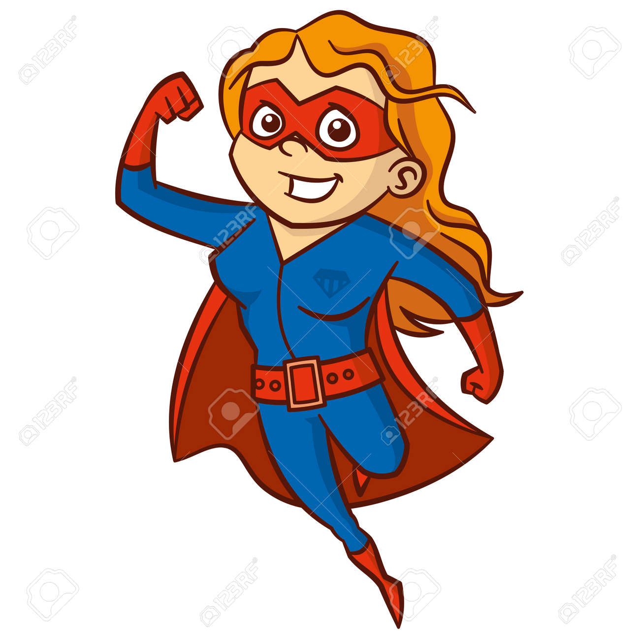 Superhero Red Haired Woman Cartoon Character Isolated Royalty Free Cliparts Vectors And Stock Illustration Image 86220463