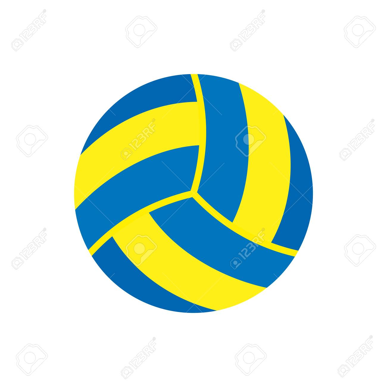sports equipment volleyball vector illustration isolated on rh 123rf com volleyball vector free volleyball vector art free