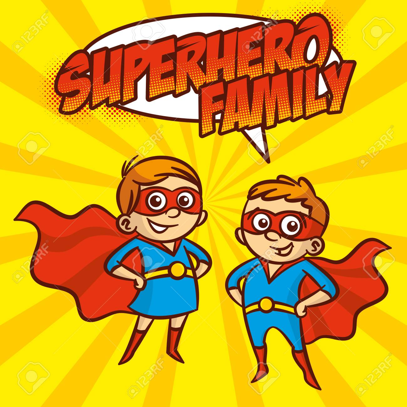 Superheroe De La Familia De Superheroes Personaje De Dibujos