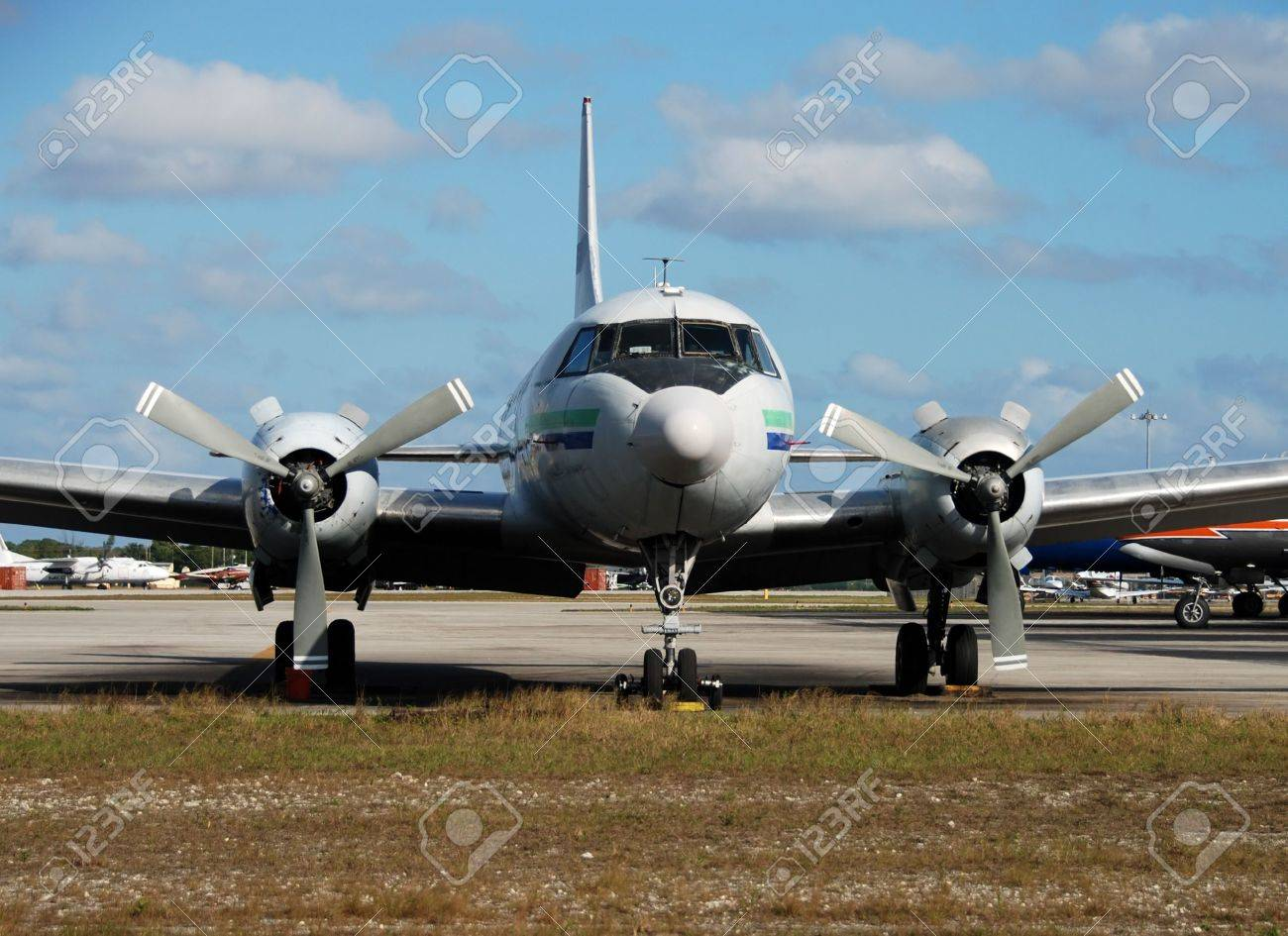 old turboprop airplane stock photo picture and royalty free image