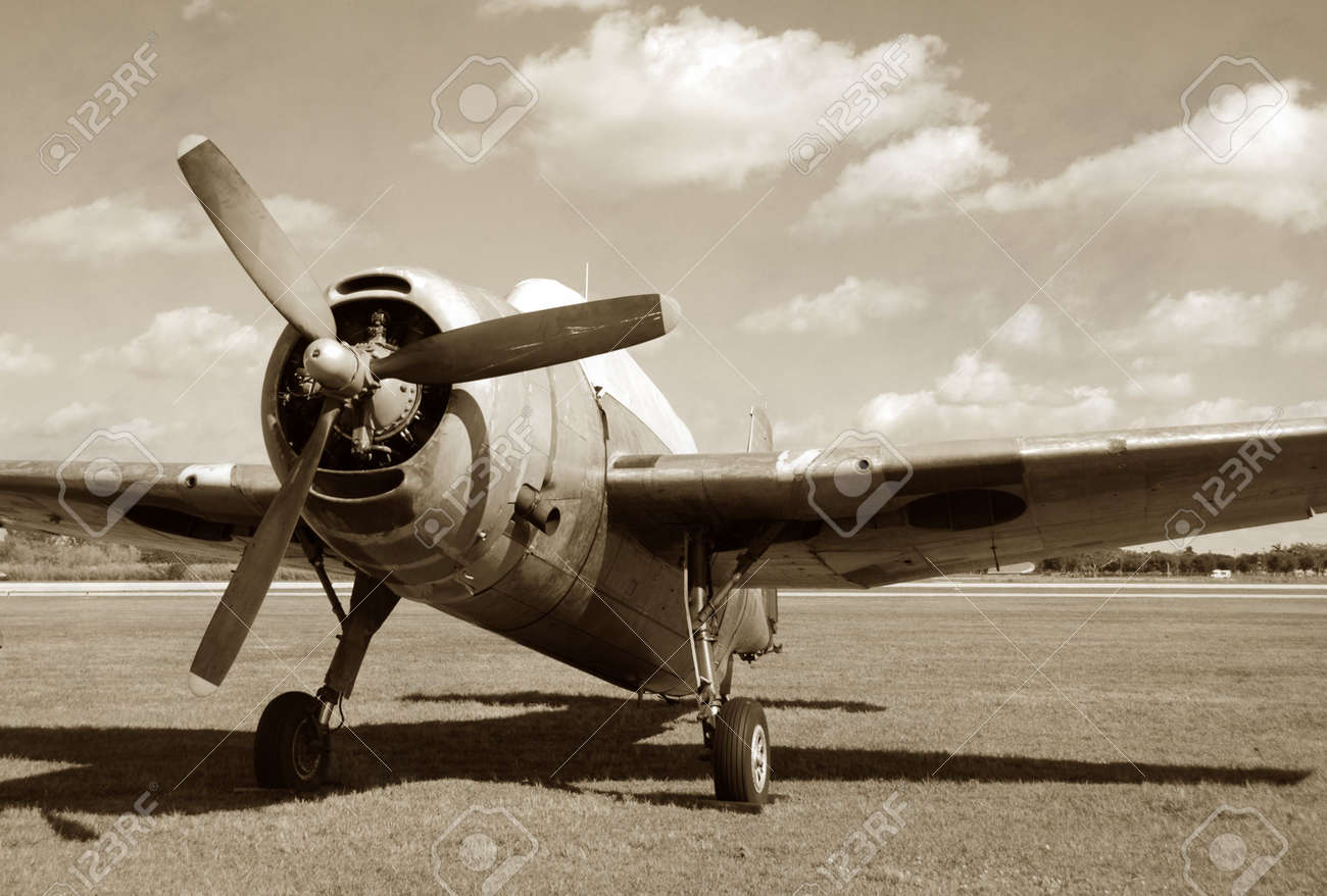 vintage fighter plane stock photo picture and royalty free image