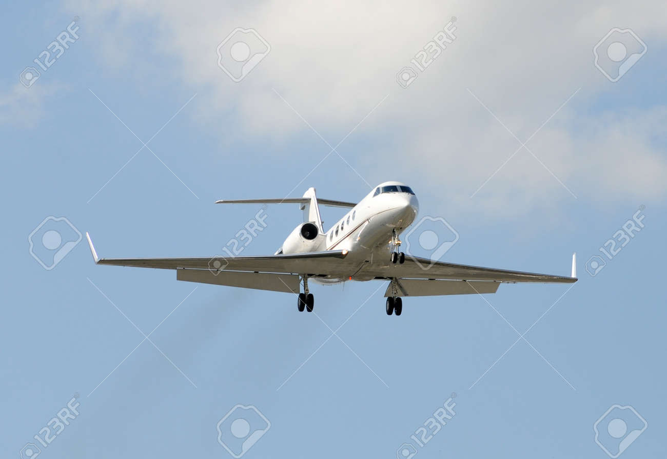 Modern jet airplane for charter business travel Stock Photo - 4149452