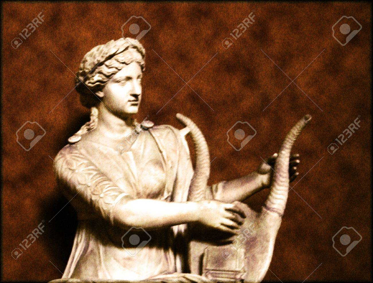Ancient statue of woman playing the harp Stock Photo - 6426043