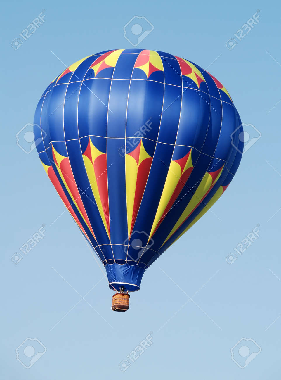 Colorful hot air balloon soaring in the sky Stock Photo - 9953003