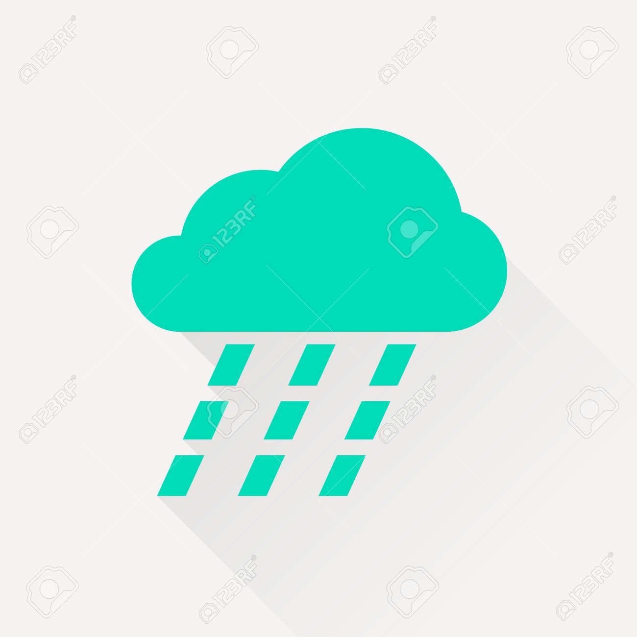 大雨のアイコンのイラスト素材ベクタ Image 45027074