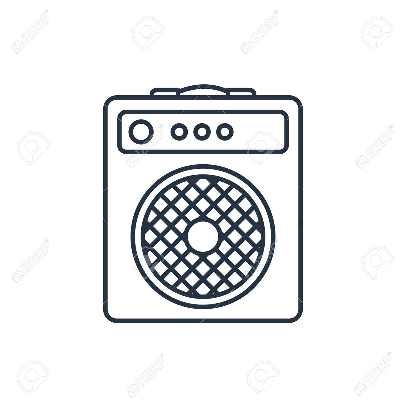Guitar Amplifier Outline Icon Royalty Free Cliparts, Vectors, And ...