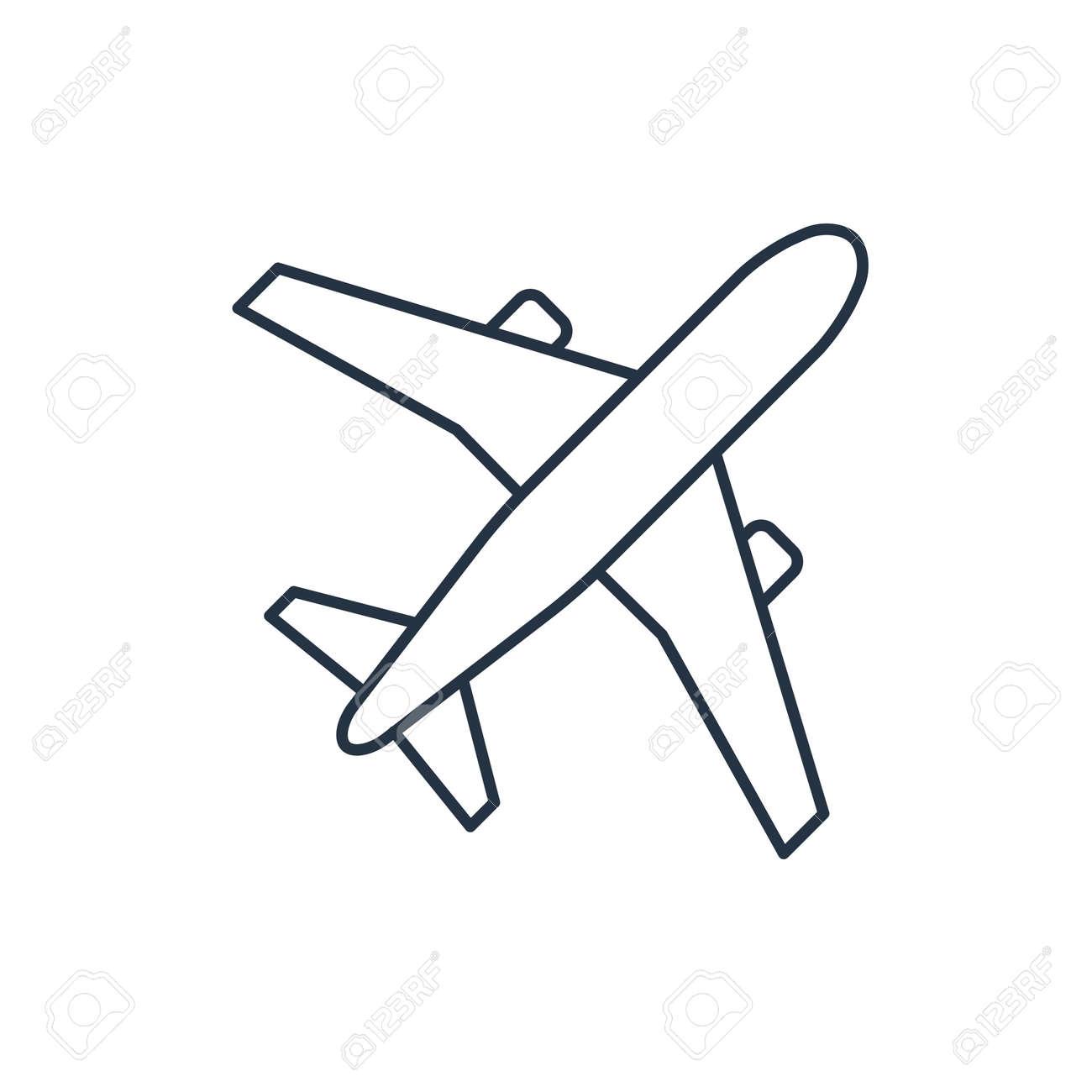 Avion Del Icono Del Vector Esquema Ilustraciones Vectoriales Clip Art Vectorizado Libre De Derechos Image 45514558