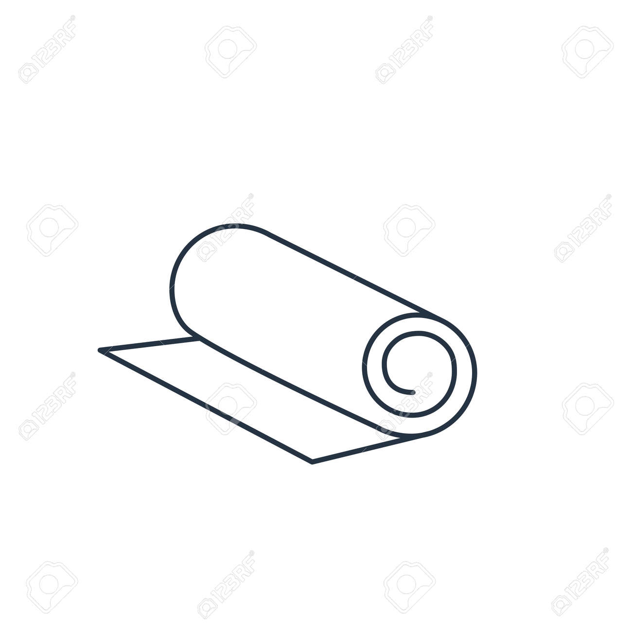 Yoga Mat Icon Vector Illustration Royalty Free Cliparts Vectors And Stock Illustration Image 46250232
