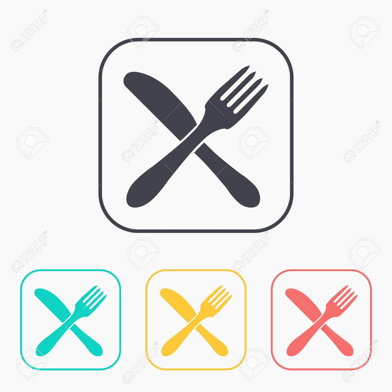 Kitchen Icon Of Crossed Fork And Knife
