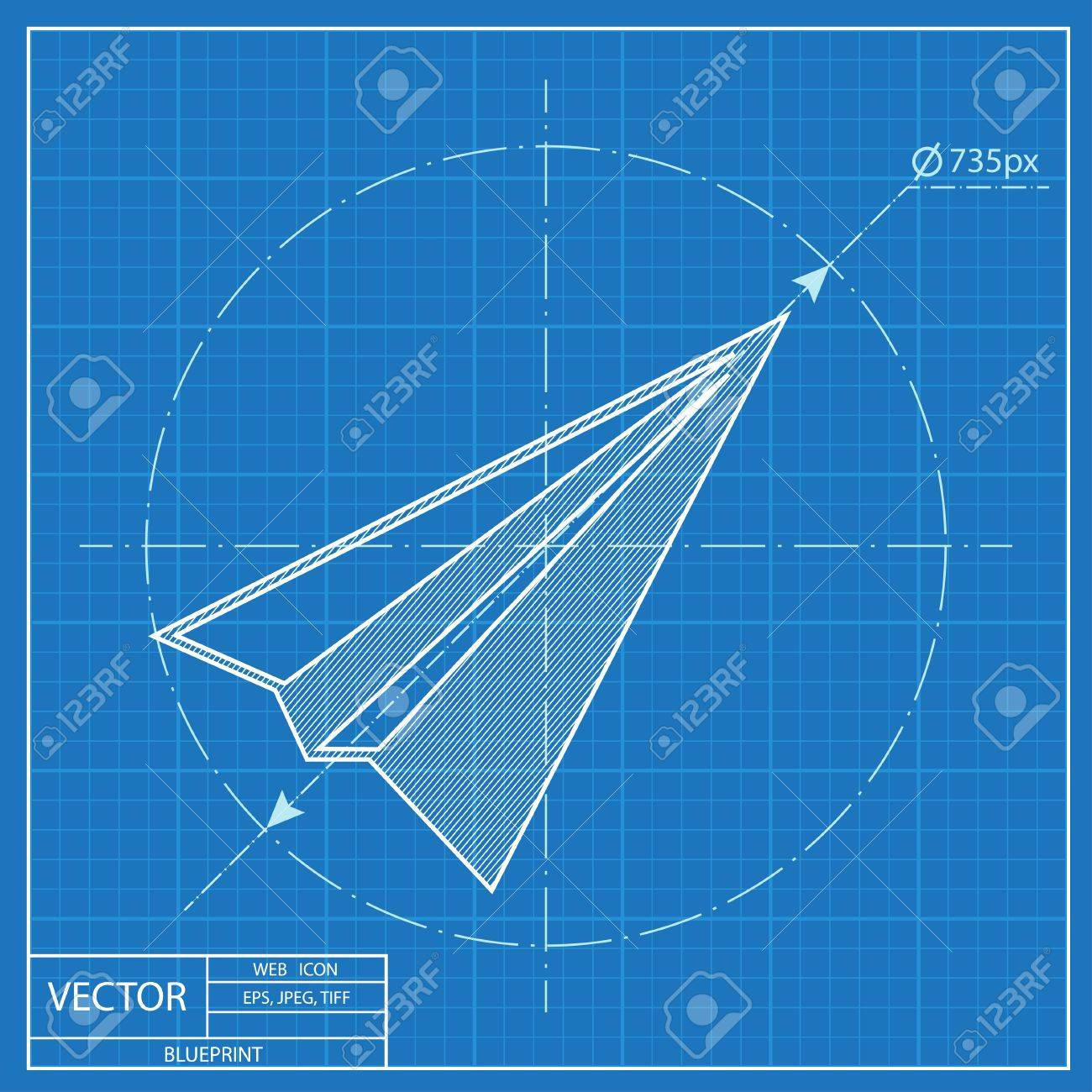 Paper plane sign airplane symbol travel vector blueprint icon paper plane sign airplane symbol travel vector blueprint icon stock vector 54207437 malvernweather Choice Image