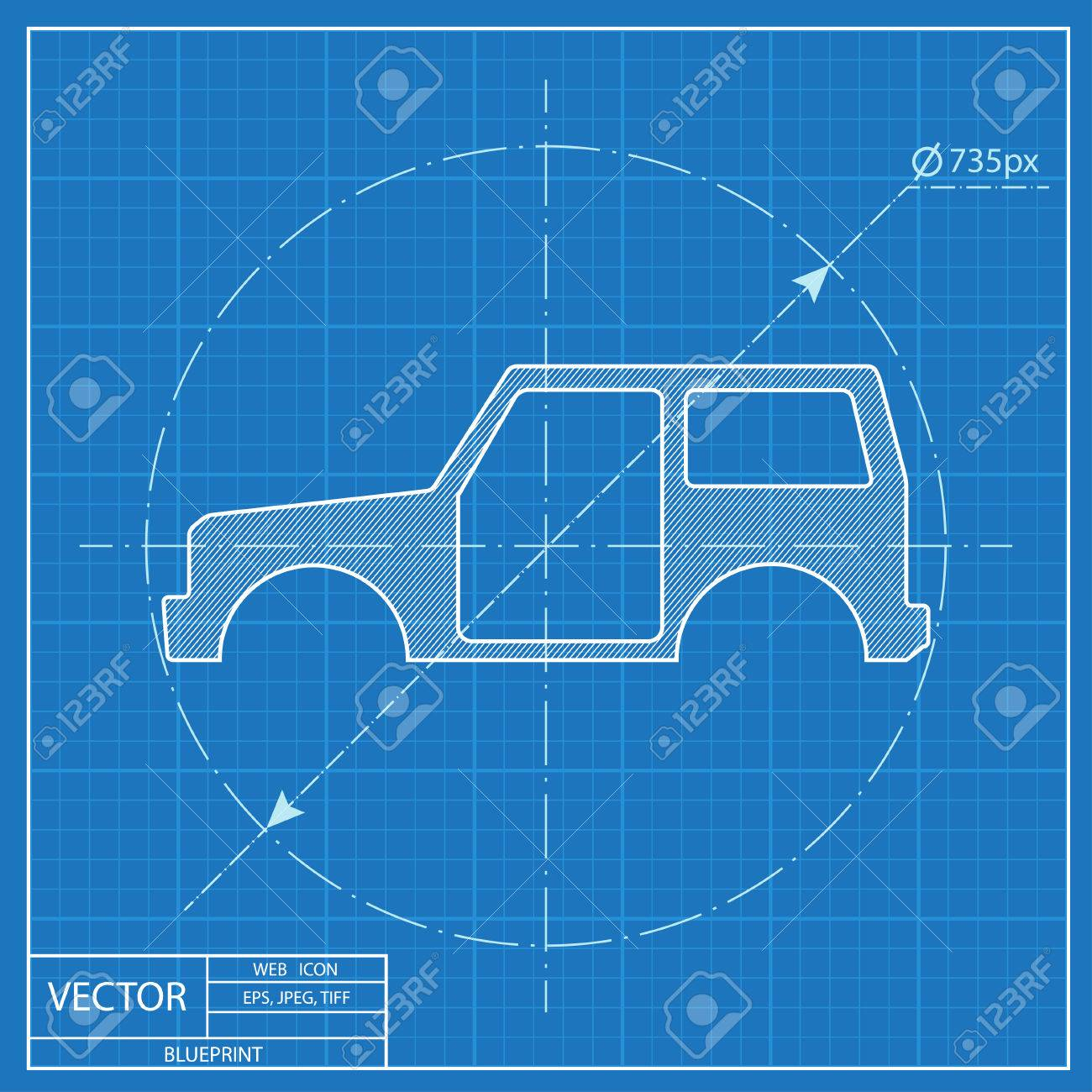 Icon of car body blueprint style royalty free cliparts vectors icon of car body blueprint style stock vector 55573019 malvernweather Gallery