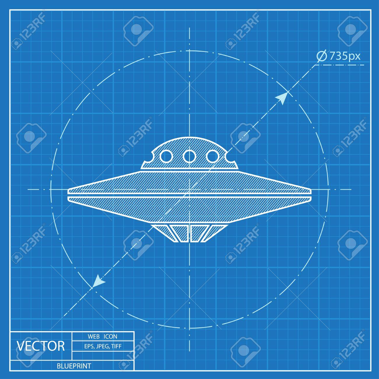 Ufo flying saucer icon blueprint style ilustraciones vectoriales blueprint style foto de archivo 55573076 malvernweather Gallery