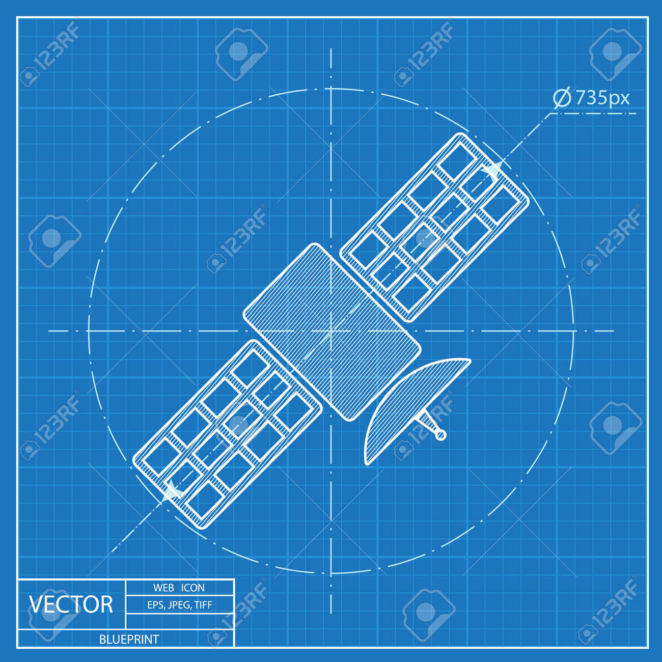 Satellite simple vector icon blueprint style royalty free cliparts satellite simple vector icon blueprint style stock vector 55573082 malvernweather Choice Image