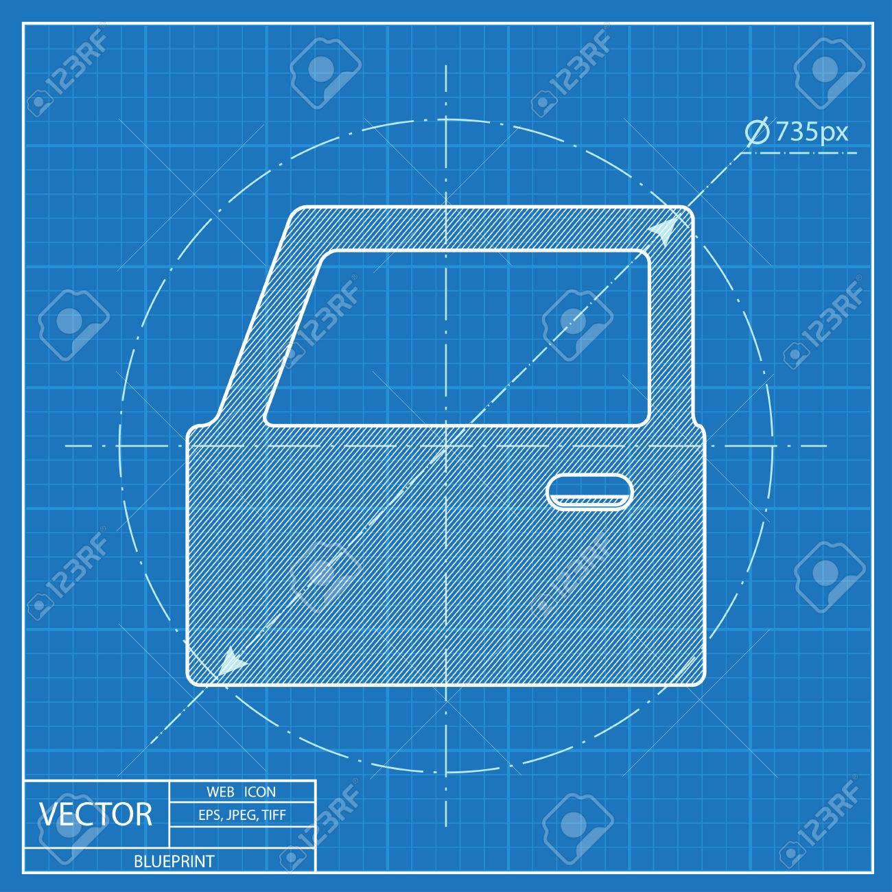 Blueprint icon of car door royalty free cliparts vectors and stock blueprint icon of car door stock vector 55724508 malvernweather Choice Image