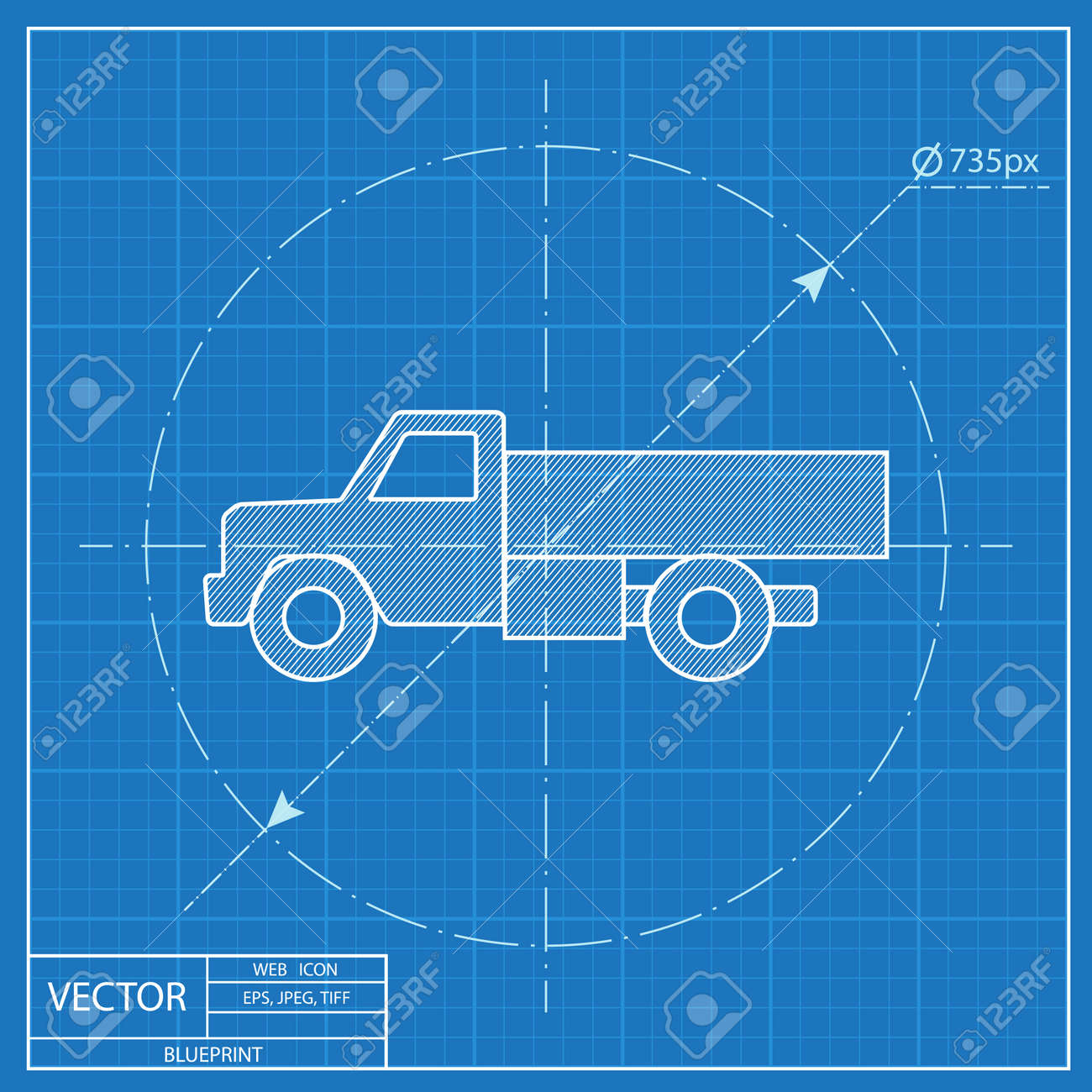 Blueprint icon of truck royalty free cliparts vectors and stock blueprint icon of truck stock vector 56167051 malvernweather Image collections