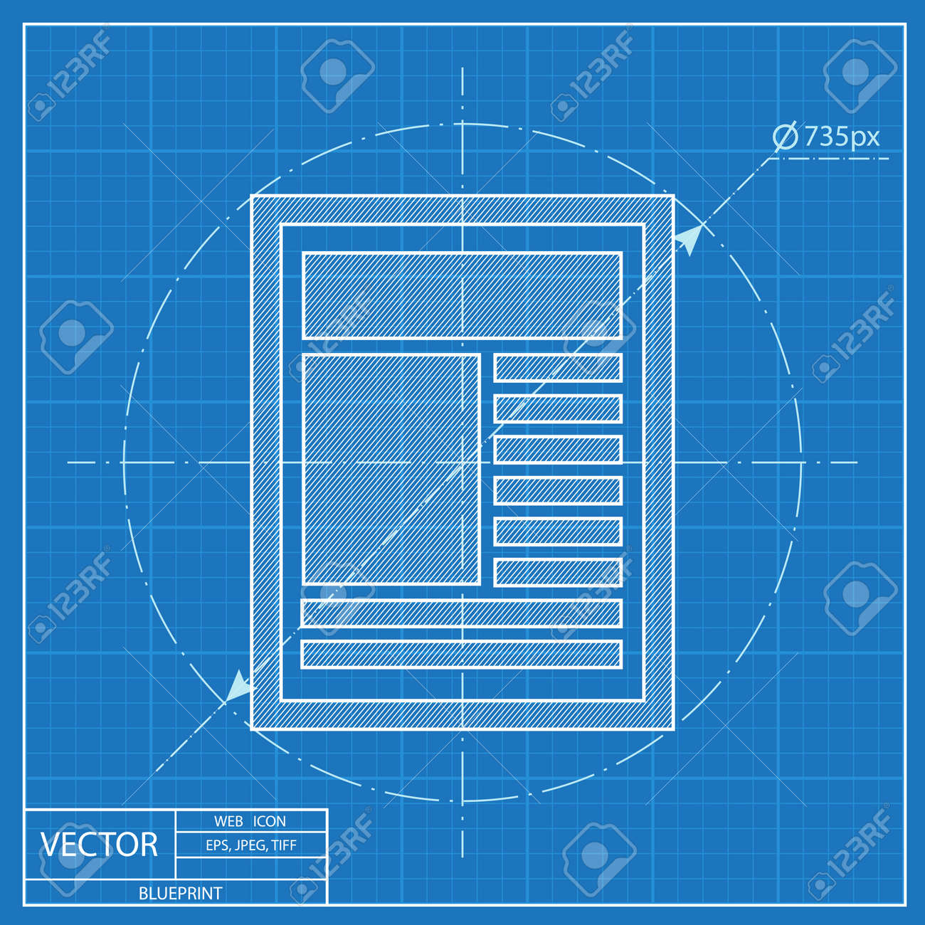 Blueprint icon of newspaper royalty free cliparts vectors and blueprint icon of newspaper stock vector 56167247 malvernweather Images