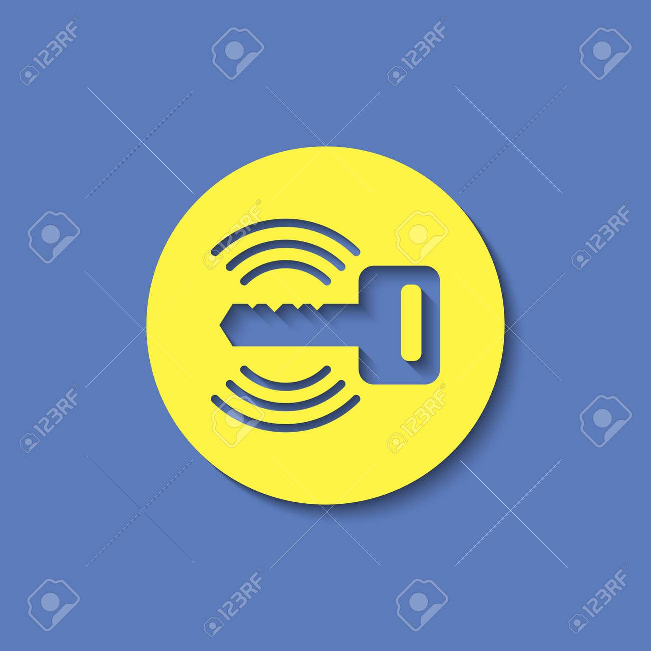 Car Remote Key Symbol Vector Hmi Dashboard Flat Icon Royalty Free - Car image sign of dashboardcar dashboard icons stock images royaltyfree imagesvectors