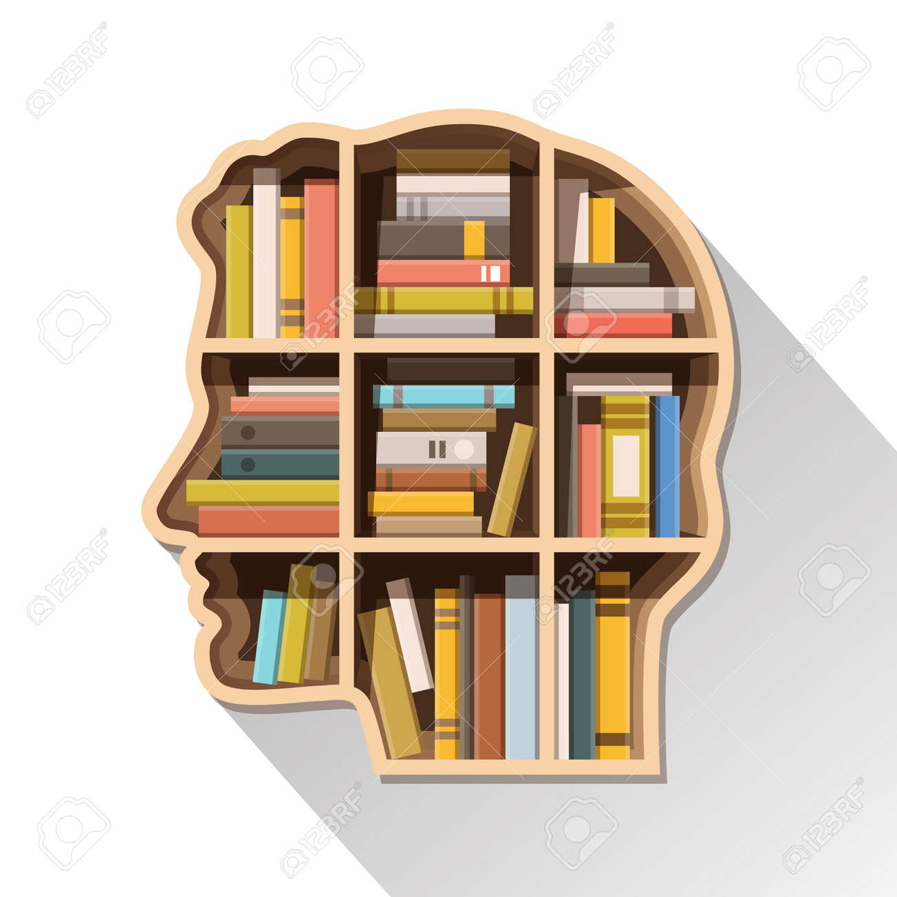 Education learning and knowledge concept Human head