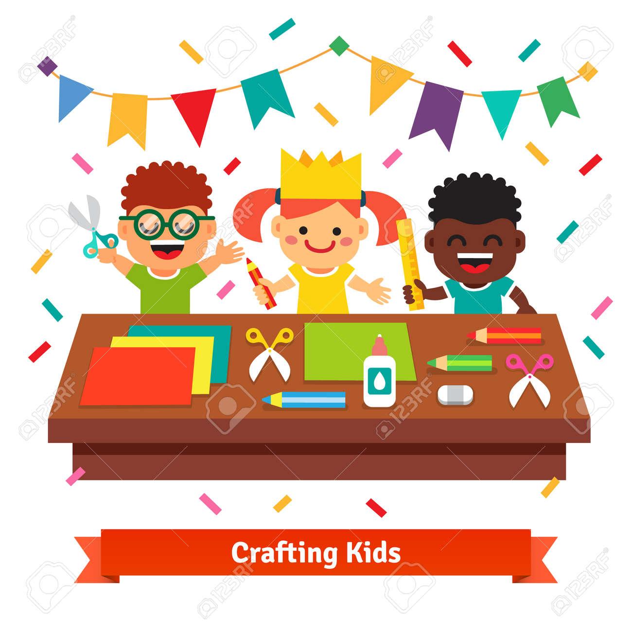 Kids Crafts In Kindergarten Creative Children Crafting Decorations