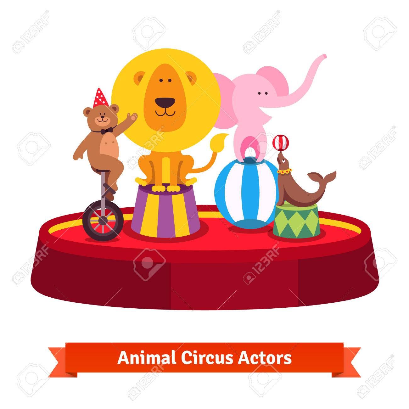 Vintage Circus Elephant On A Ball