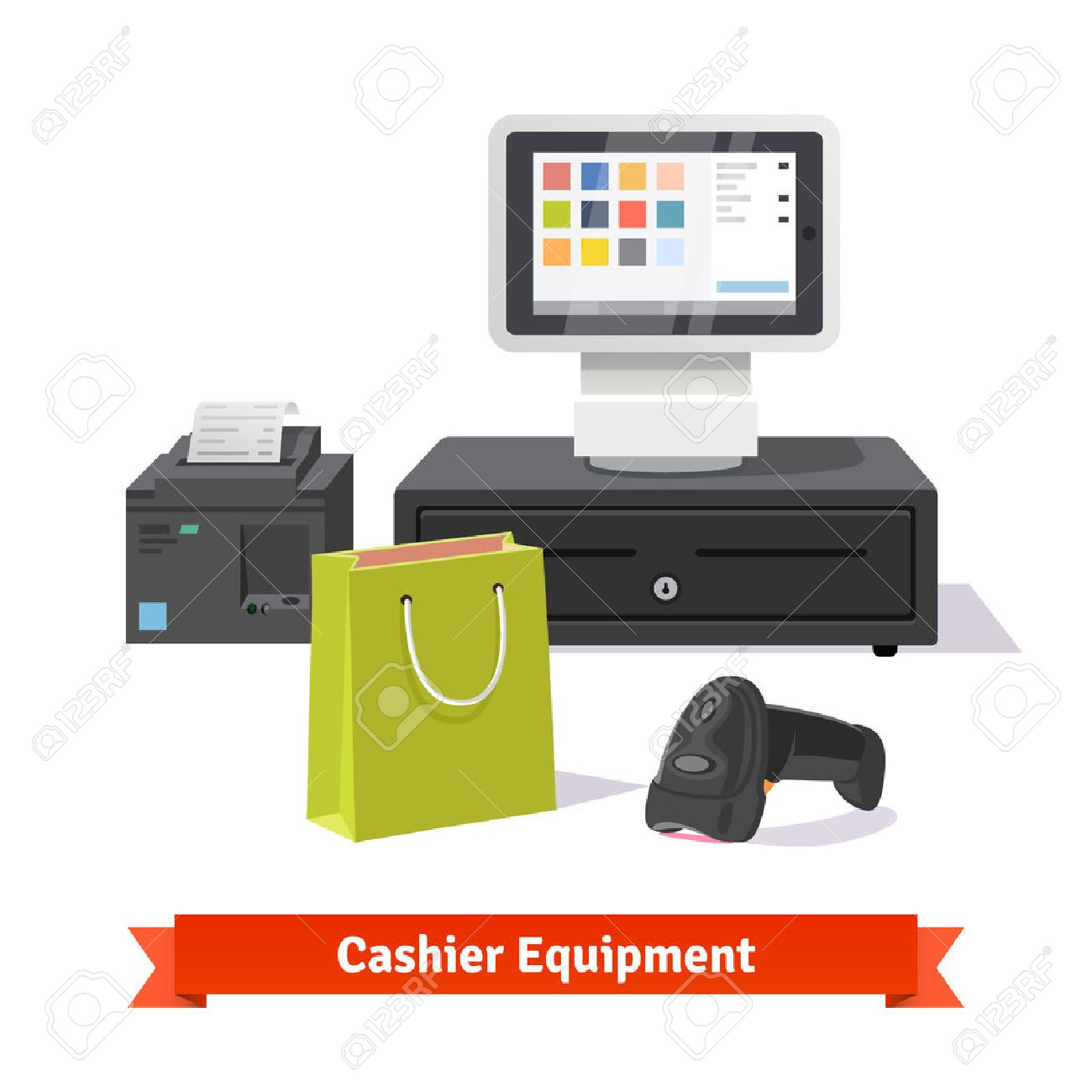all for small retail business payments modern tablet pos terminal