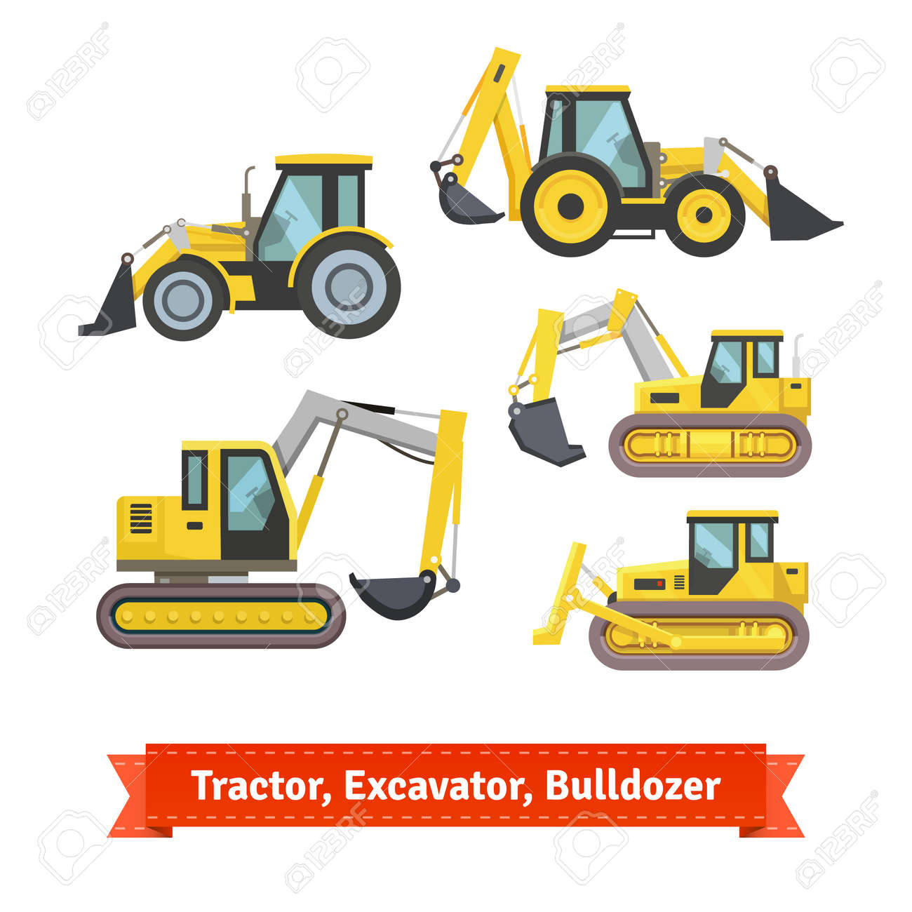 7,776 Bulldozer Stock Vector Illustration And Royalty Free ...