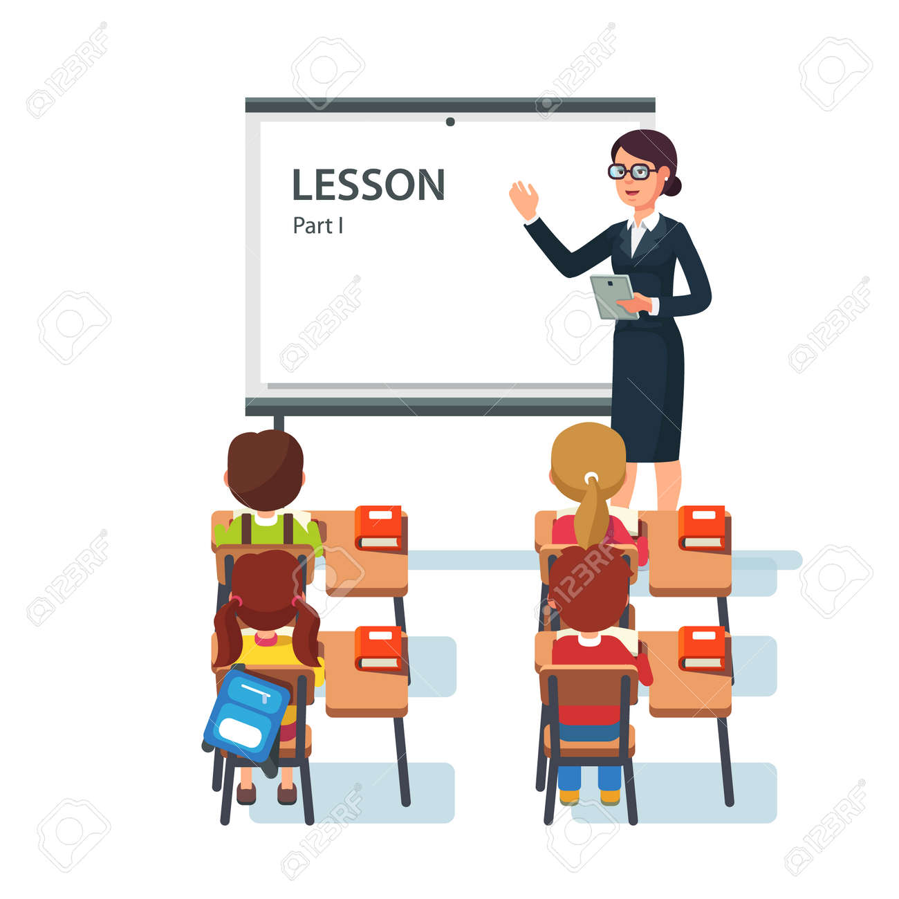 Tables and chairs cartoon -  Classroom Table And Chairs Clipart