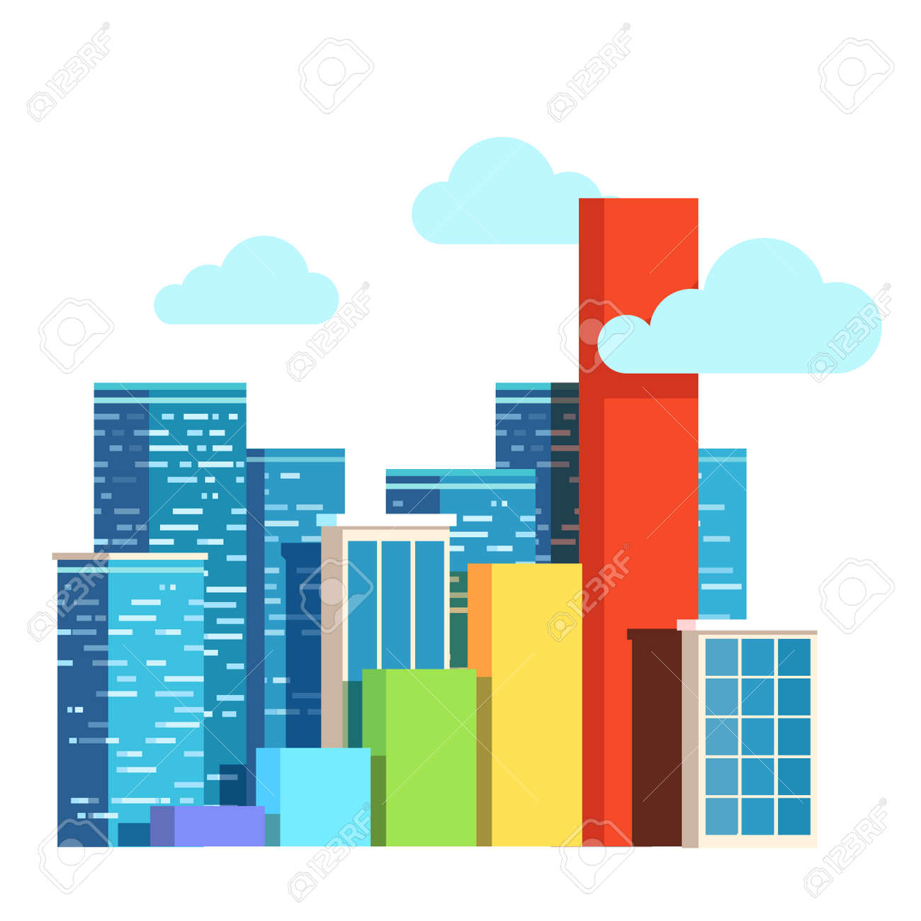 city growth concept real estate prices upgrowth bar chart urban rh 123rf com vector city background vector city center, houston, tx