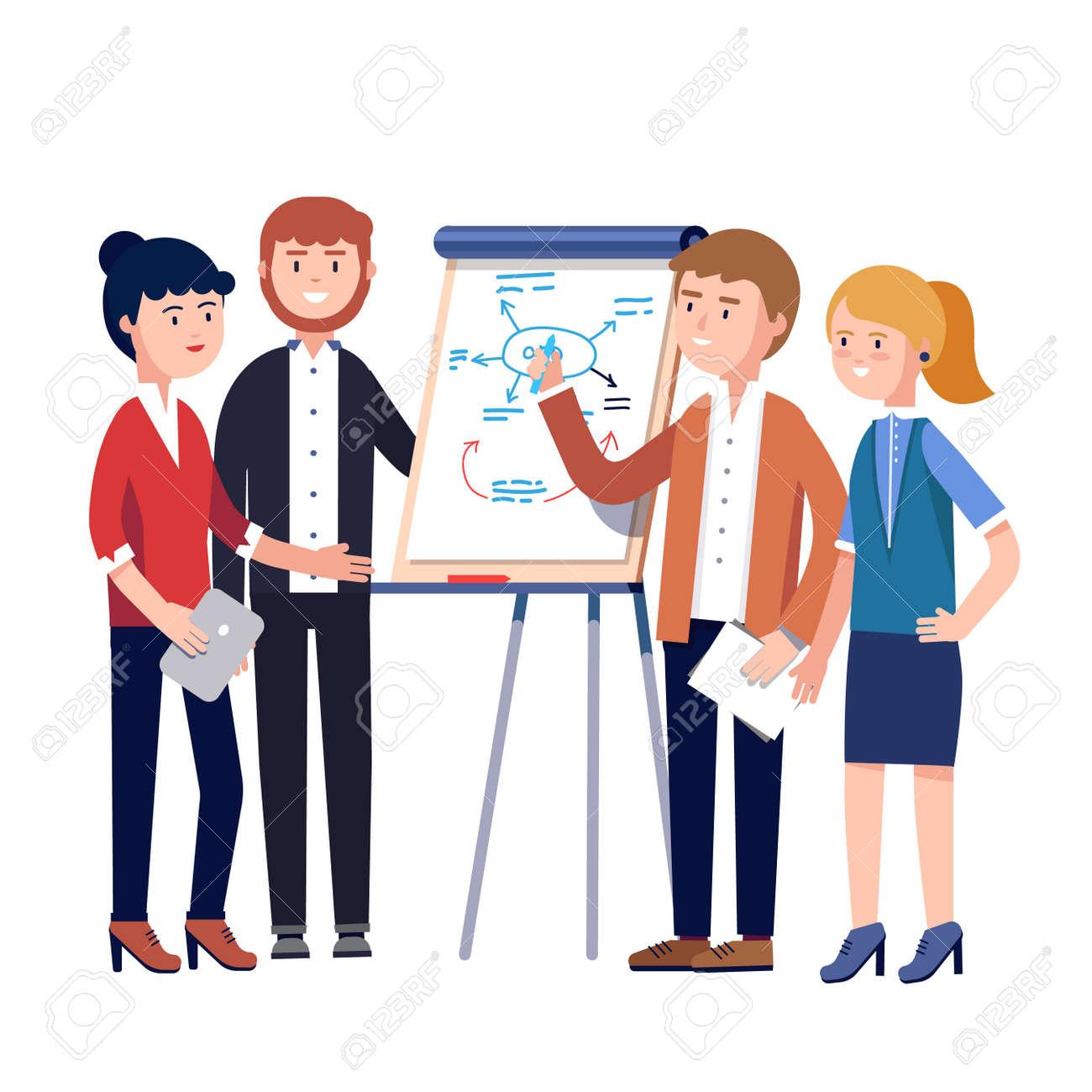 Geschäftsleute Team Projektstrategie Planungstreffen. Geschäftsmann ...