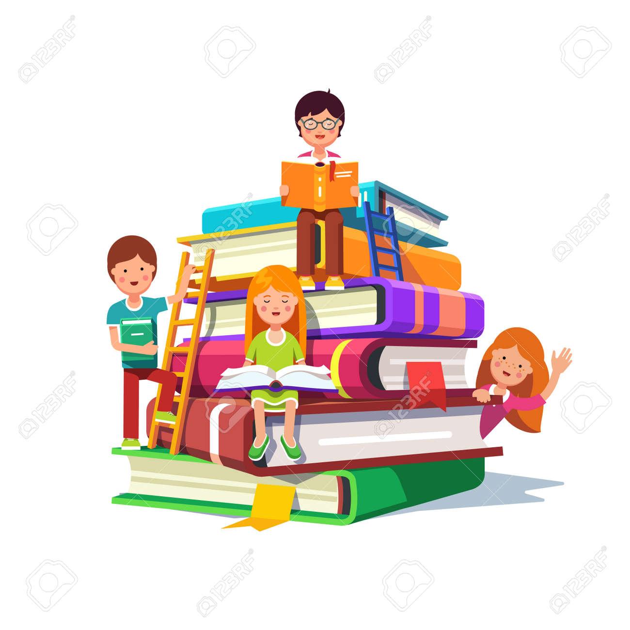 Image result for cartoon school children reading