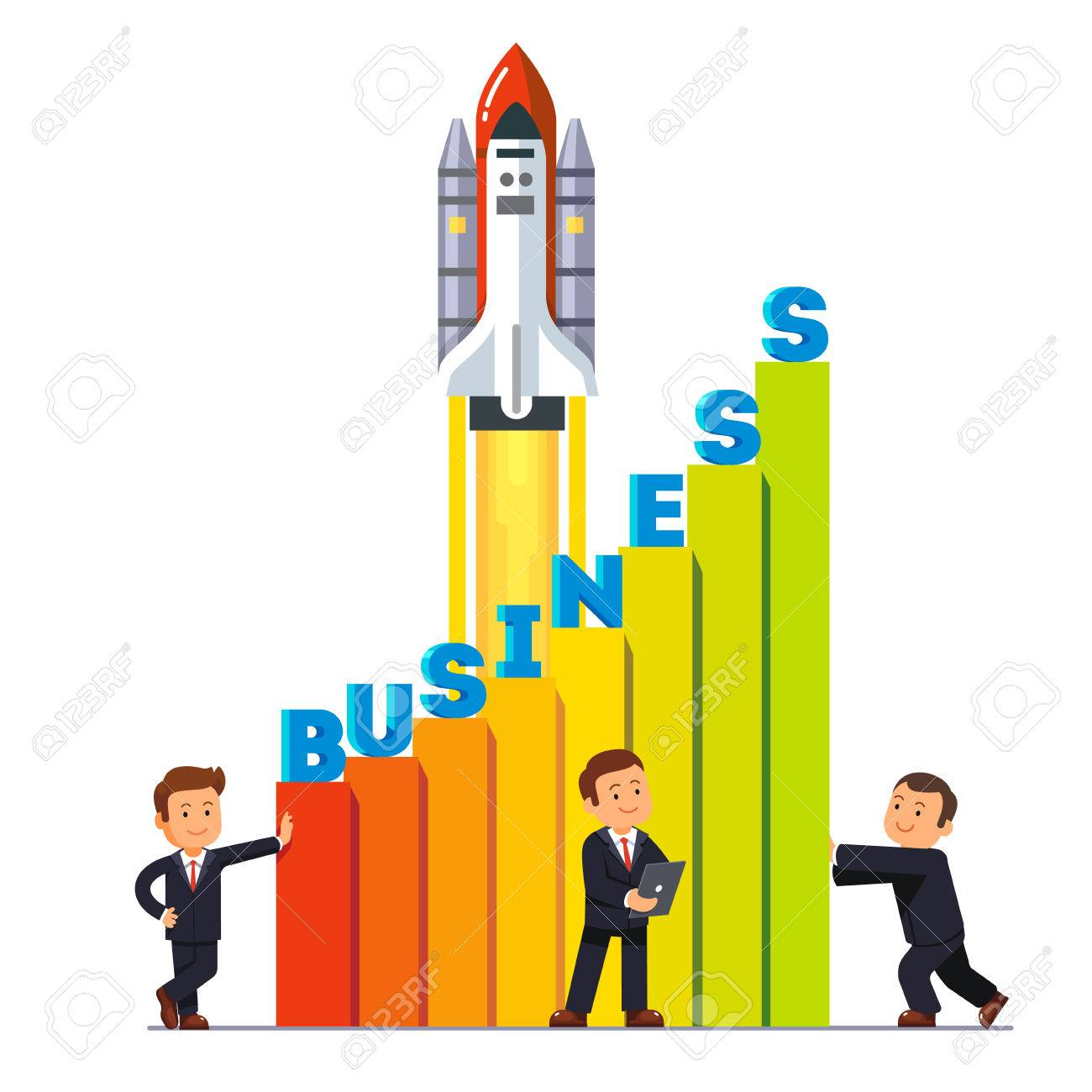 businessman team working together to launch their growing business rh 123rf com Plant Growth Clip Art Business Growth