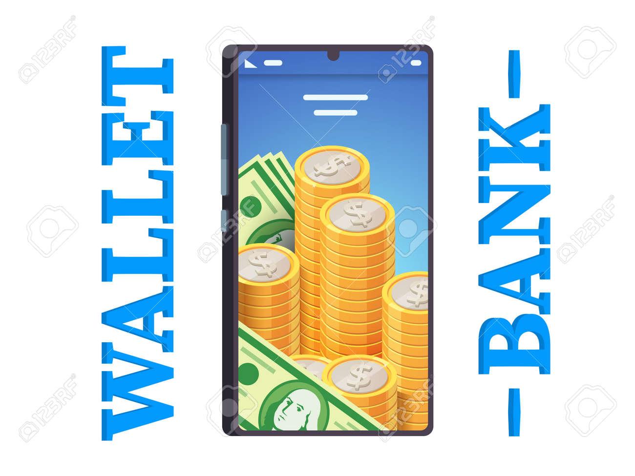 Modern digital online mobile phone banking app - 153267093