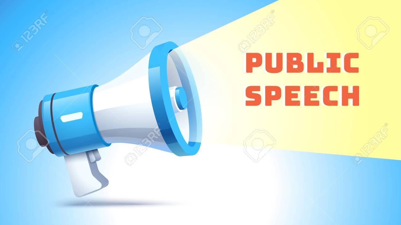 Public speech concept. Emitting sound for activism - 153267191