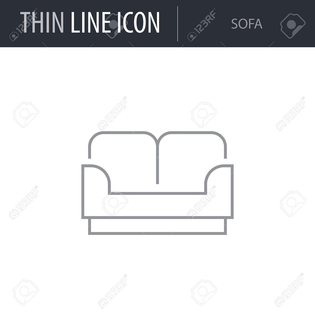 Terrific Symbol Of Sofa Thin Line Icon Of Furniture Stroke Pictogram Cjindustries Chair Design For Home Cjindustriesco