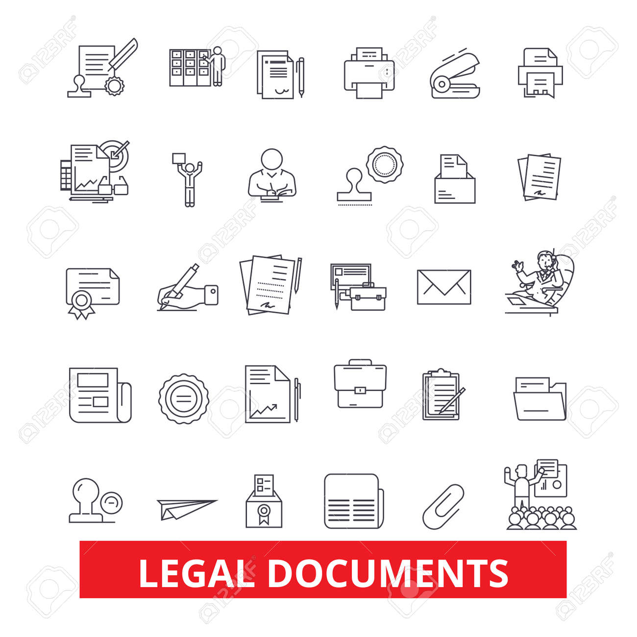 legal documents archive deed record papers legal files