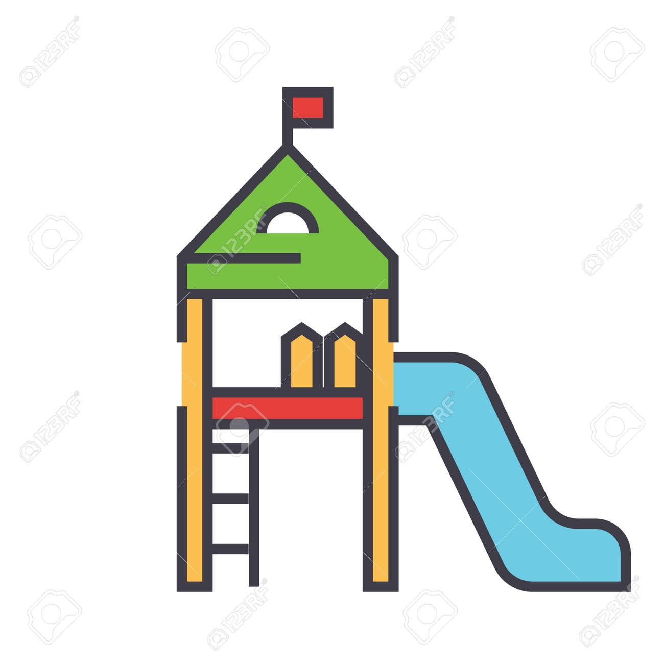 Equipo De Juegos Para Niños, Casa De Niños, Concepto De Jardín De ...