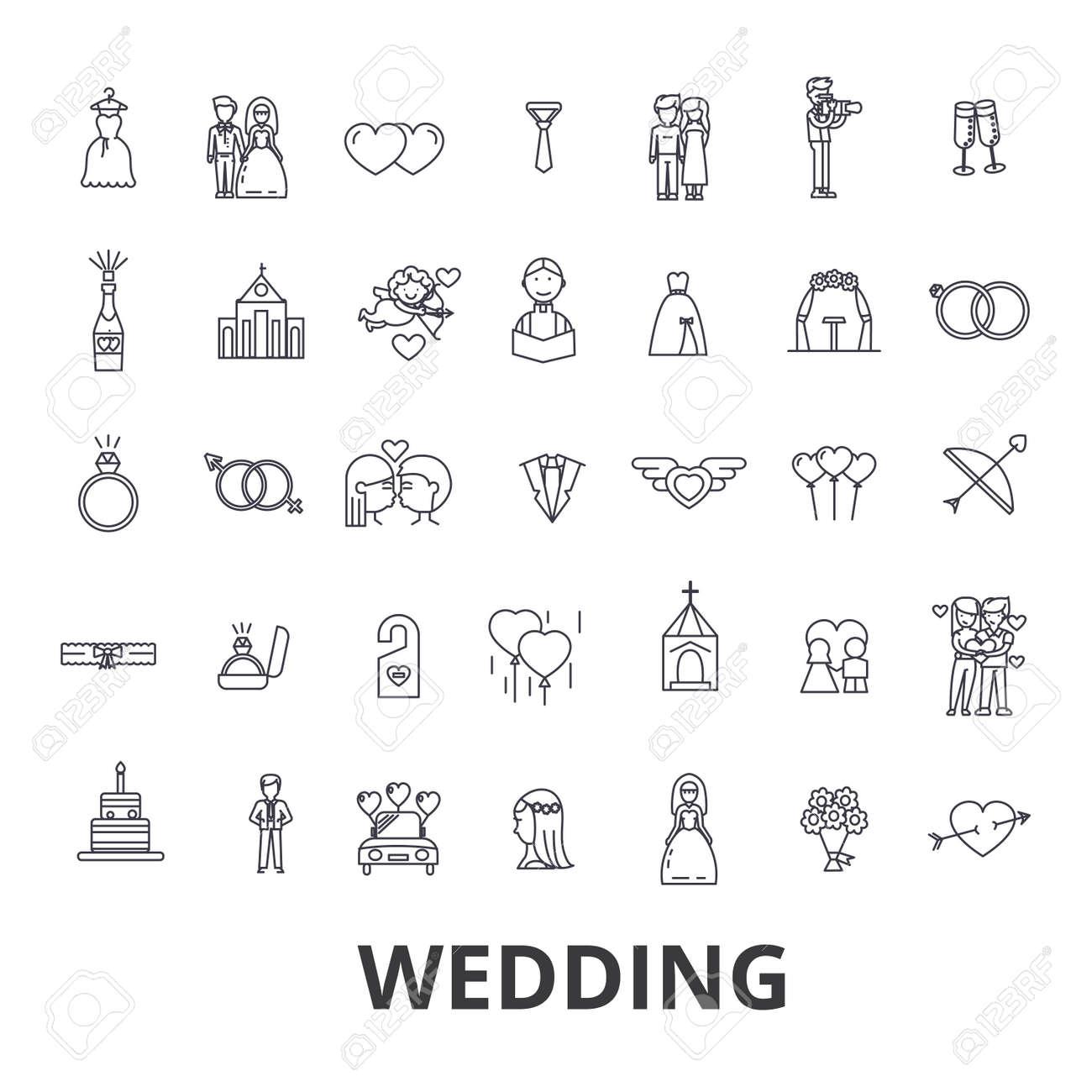 189ebe429b ... iconos de línea de relaciones. Boda